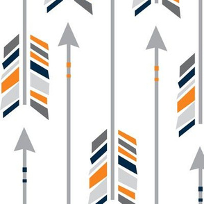 Large Arrows: Navy, Orange & Gray