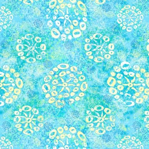 Herbal batik #2 light aqua