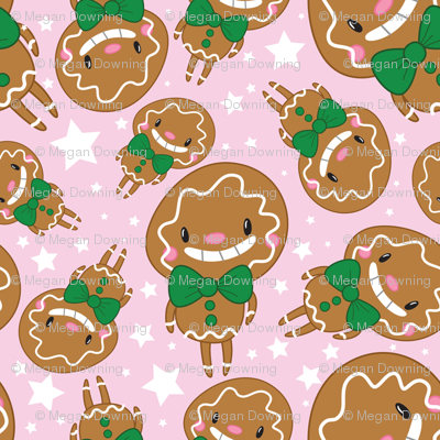 Christmas Crew - Gingerbread Man - Pink - Medium