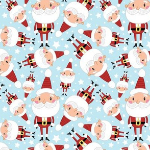 Christmas Crew - Santa - Blue - Medium