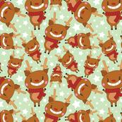 Christmas Crew - Reindeer - Green - Medium