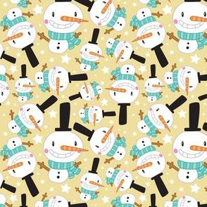 Christmas Crew - Snowman - Yellow - Medium