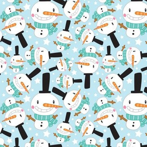 Christmas Crew - Snowman - Blue - Medium