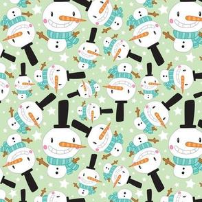 Christmas Crew - Snowman - Green - Medium