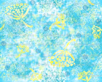 Herbal Batik #1 aqua