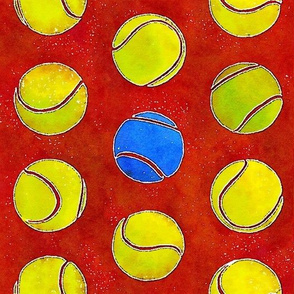 Clay court (watercolor)