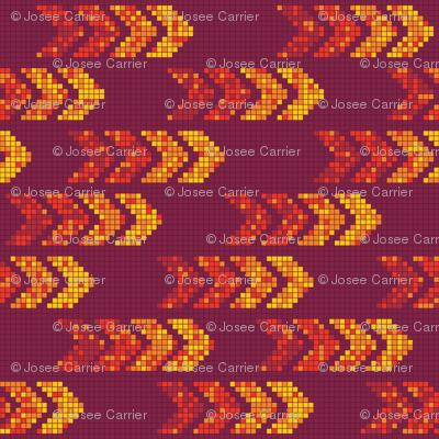Pixel Arrows Warm Colors