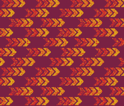 Pixel Arrows Warm Colors fabric by thecharmingneedle on Spoonflower - custom fabric