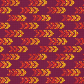 Pixel Arrows Warm Colors