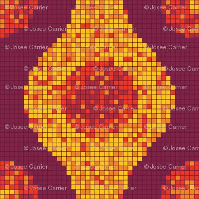Pixel Pods Warm Colors