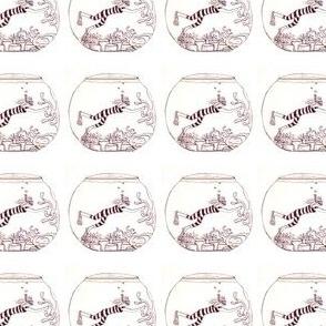 striped vintage swimmer