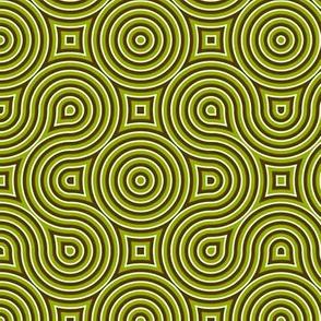 Optical Swirls olive,black,white,