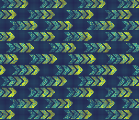 Pixel Arrows Blue fabric by thecharmingneedle on Spoonflower - custom fabric