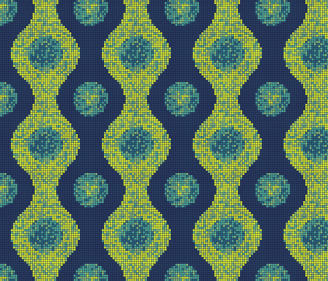 Pixel Pods Blue fabric by thecharmingneedle on Spoonflower - custom fabric