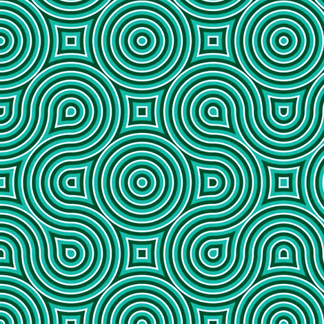Optical Swirls teal,black,white, fabric by whimzwhirled on Spoonflower - custom fabric