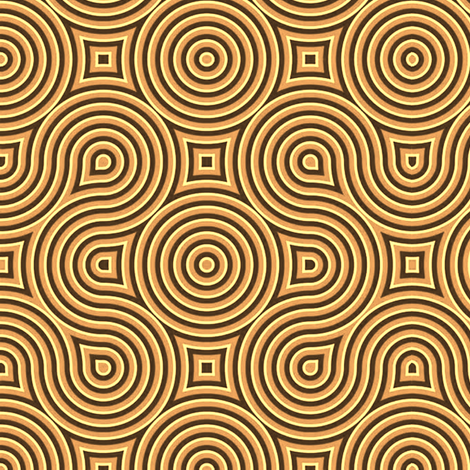 Optical Swirls golden fabric by whimzwhirled on Spoonflower - custom fabric