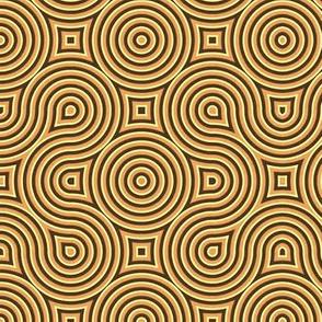 Optical Swirls golden