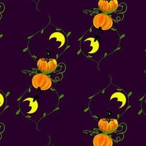 Moonlit Cats Purple