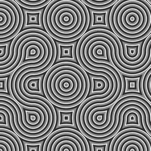 Optical Swirls gray,black,white