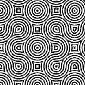 Optical Swirls black and white inverted