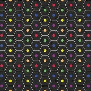 black_back of a pencil_dots