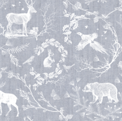 Woodland Winter Toile (in Snow)