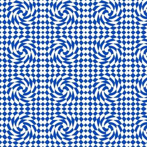 Checks Twist Blue