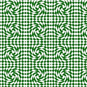 Checks Twist green