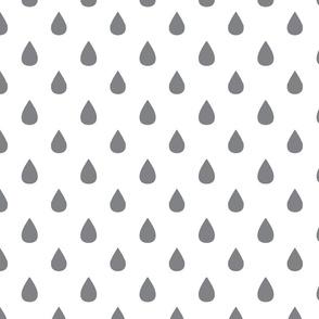 Small tear drops - grey