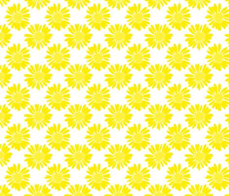Yellow Flowers fabric by ornaart on Spoonflower - custom fabric