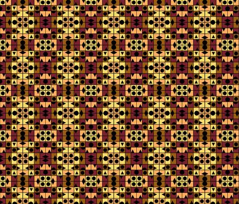 TUTTI FRUTTI BANANA SPLIT Small Scale Geometric fabric by paysmage on Spoonflower - custom fabric