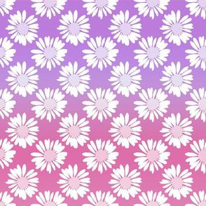 Purple Gradient Flowers