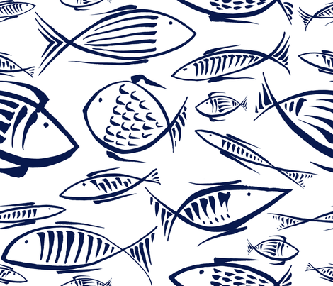 between the fishes fabric by chicca_besso on Spoonflower - custom fabric