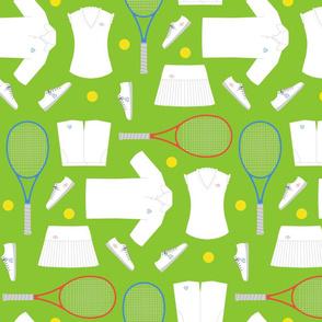 mixed doubles tennis - grass court