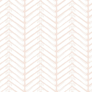 Bird Arrow White on Blush Pink