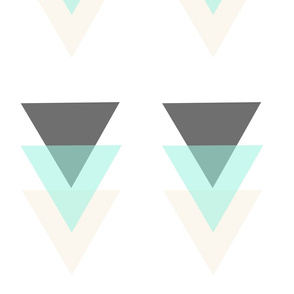 large mint triangles