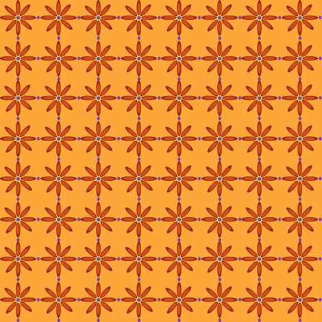 rustflower fabric by beaulle on Spoonflower - custom fabric