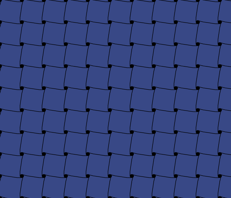 Cadent in Blue fabric by katsanders on Spoonflower - custom fabric