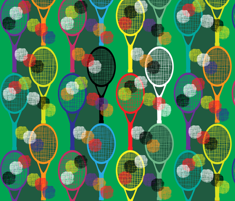 Tennis Brights fabric by paula's_designs on Spoonflower - custom fabric