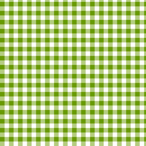 green leaf gingham fabric by weavingmajor on Spoonflower - custom fabric