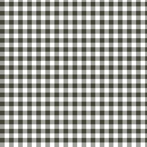 Khaki and white gingham fabric by weavingmajor on Spoonflower - custom fabric