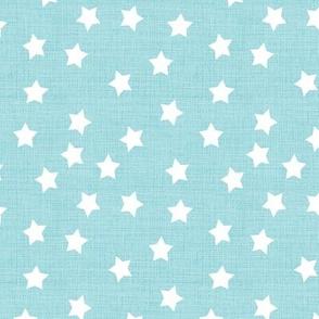 Star Ditsy Sky Blue Linen