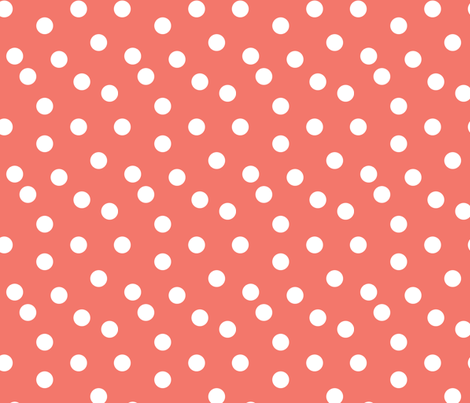 dots // coral dot dots coral baby nursery girls sweet simple dots  fabric by andrea_lauren on Spoonflower - custom fabric