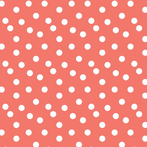 dots // coral dot dots coral baby nursery girls sweet simple dots
