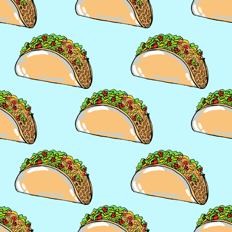 Tacos fabric by tarareed on Spoonflower - custom fabric
