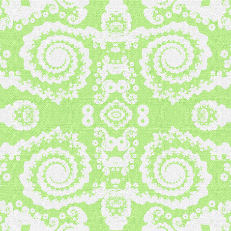 Mock lace in green and white fabric by eclectic_house on Spoonflower - custom fabric