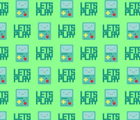let's play video games fabric by castl3t0n on Spoonflower - custom fabric