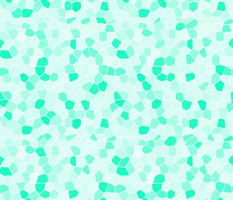 Stained Glass Mint fabric by thistleandfox on Spoonflower - custom fabric