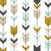 Fletching arrows // Woodland on White