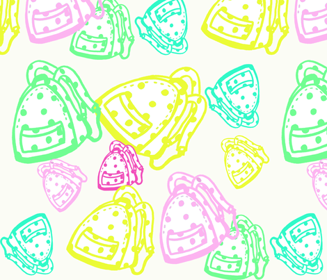 Happy backpack in sweet colors. fabric by huis_nummer_15 on Spoonflower - custom fabric